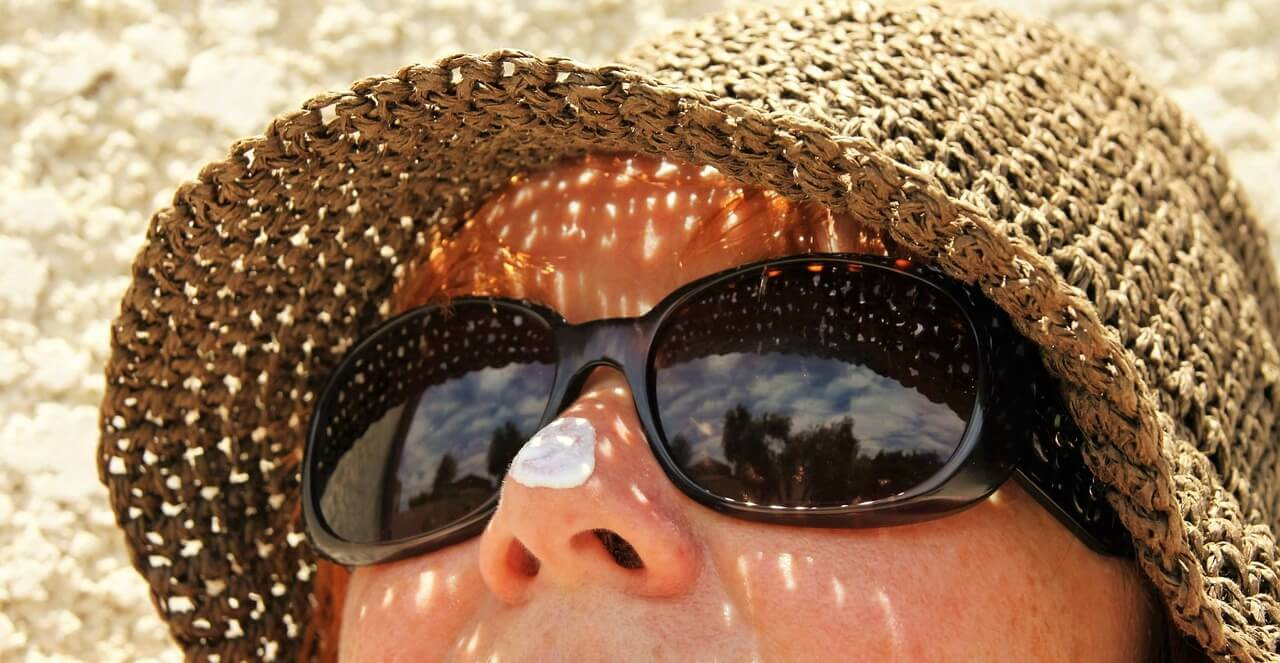 Be sun-smart with a hat, sunglasses and sunscreen
