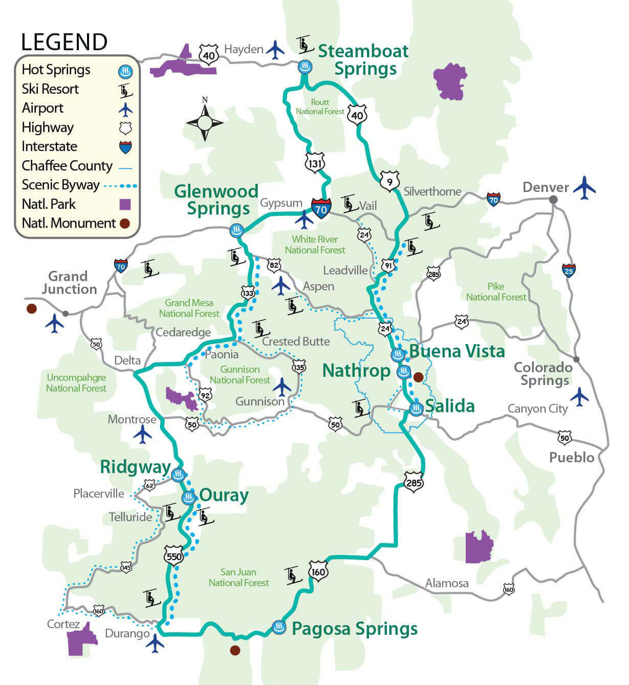Colorado Historic Hot Springs Loop | Glenwood Springs on west vail map, pagosa map, manitou springs co map, montrose map, greenwood village map, denver map, eagle map, glenwood canyon map, colorado map, broomfield map, newport news map, las vegas map, arvada map, lochbuie map, aspen map, fairfield map, saguache map, steamboat area map, norman map,