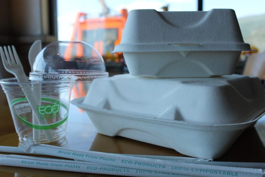 Compostable products at the Lookout Grille