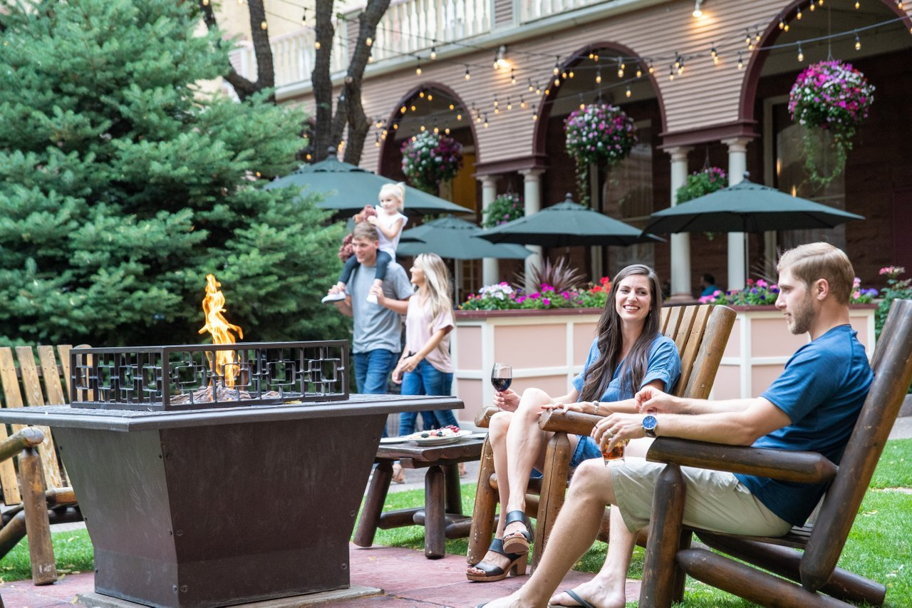 Stage a fall photoshoot at Hotel Colorado in Glenwood Springs
