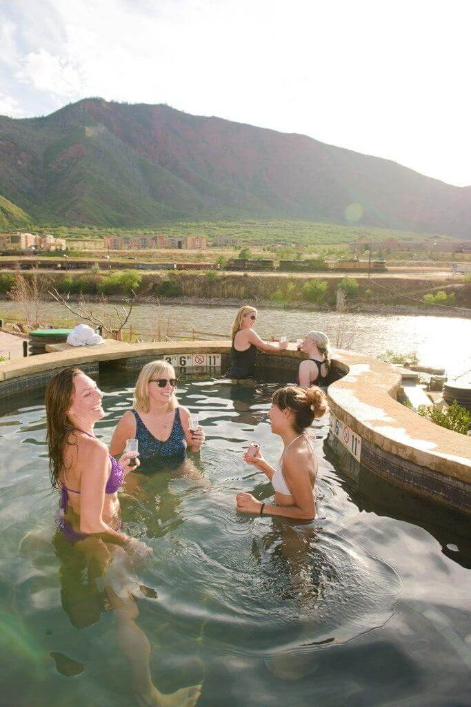 An evening out with the girls at Iron Mountain Hot Springs