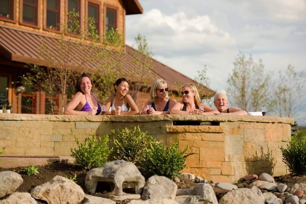 Just the girls at Iron Mountain Hot Springs