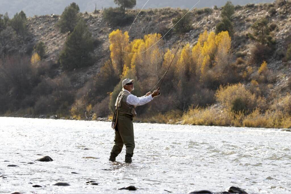 Fly fishing is one of several fall activities to enjoy in Glenwood Springs
