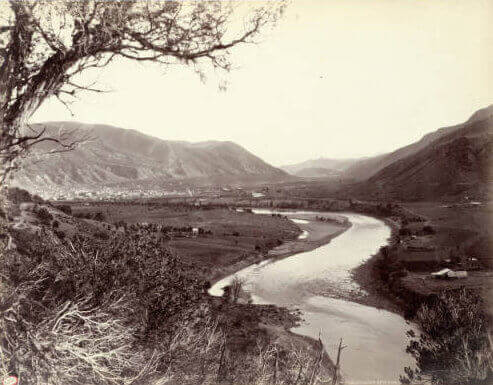 Old photo of Glenwood Springs