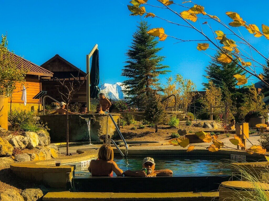 Iron Mountain Hot Springs in Fall