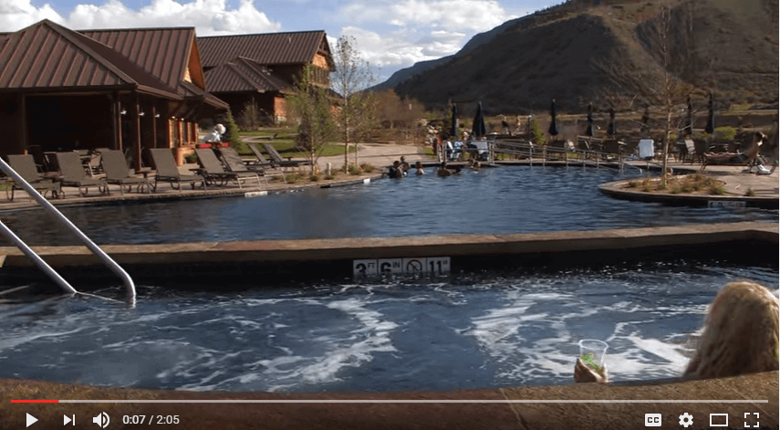 Iron Mountain Hot Springs in Glenwood Springs, Colorado