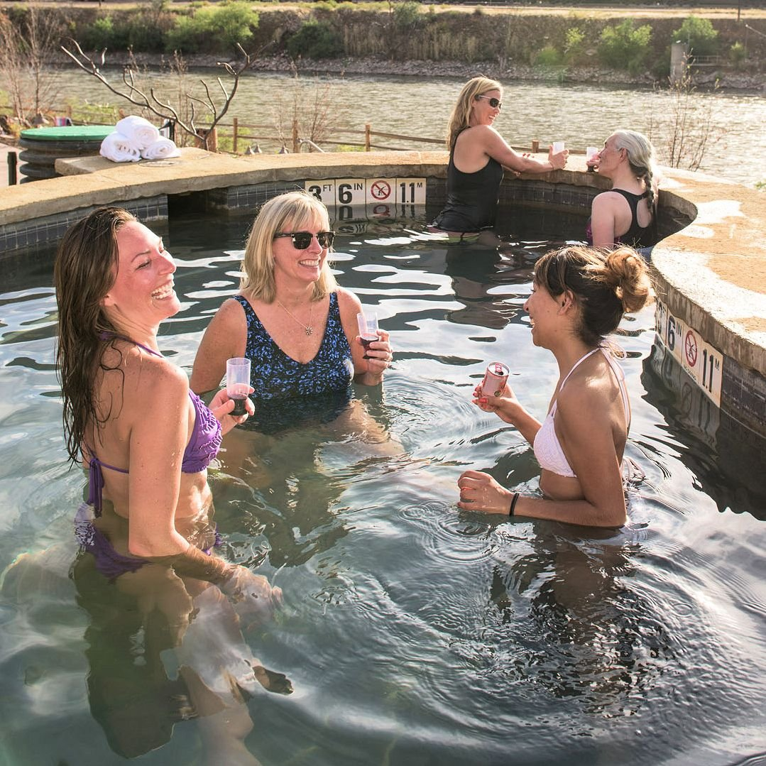 Relax at Iron Mountain Hot Springs