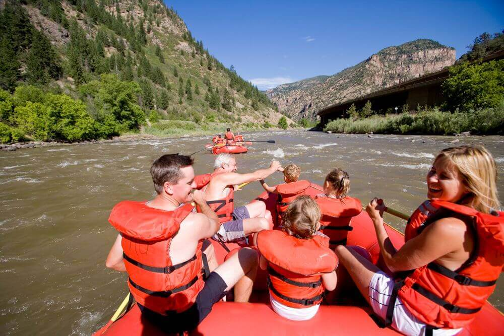 Try rafting on your Glenwood Springs vacation