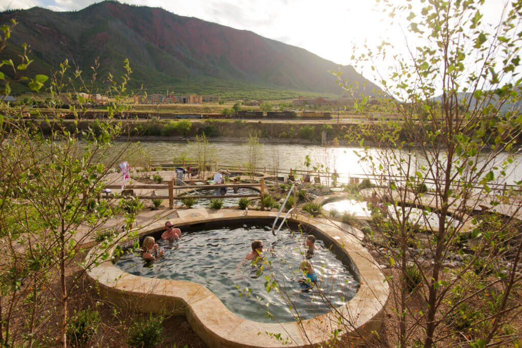 Soaking at Iron Mountain Hot Springs is the perfect remedy for relaxation