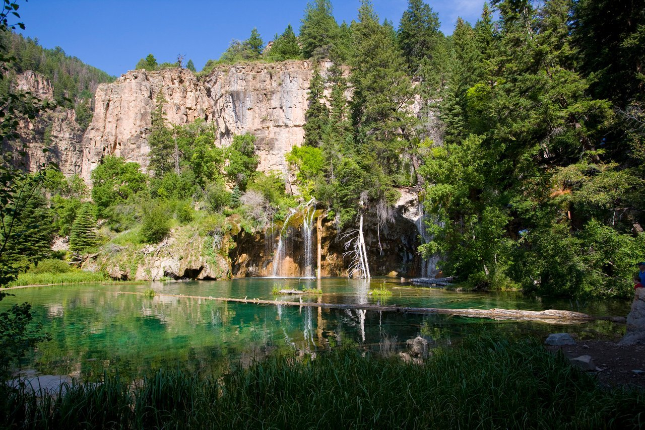 A top summer activity is hiking to Hanging Lake