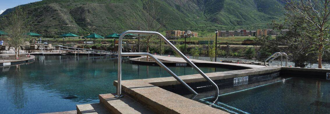 Accessable Transfer Rails at Iron Mountain Hot Springs