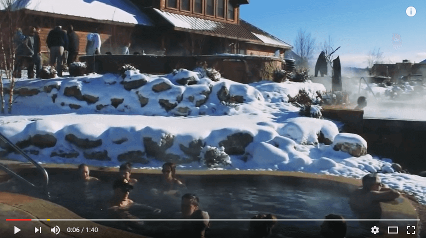 Winter at the Iron Mountain Hot Springs