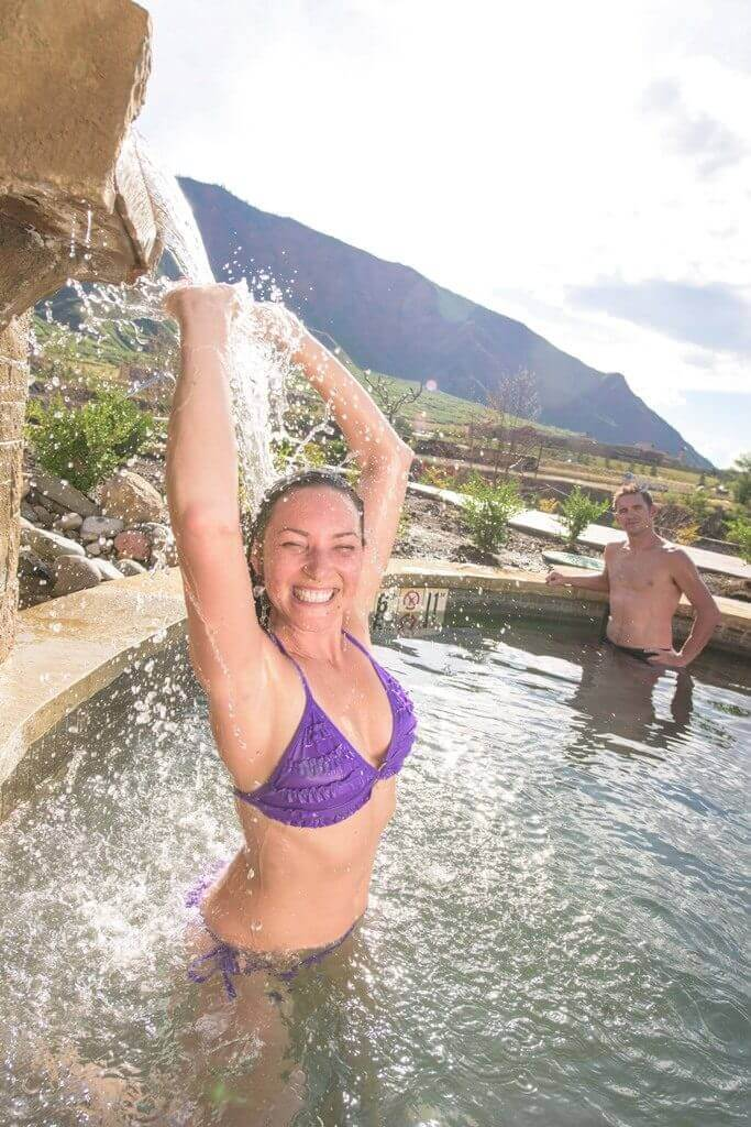 Feeling good at Iron Mountain Hot Springs