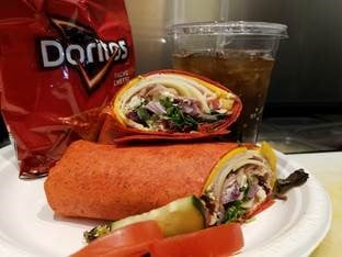 Sopris Cafe Wrap Chips and Drink