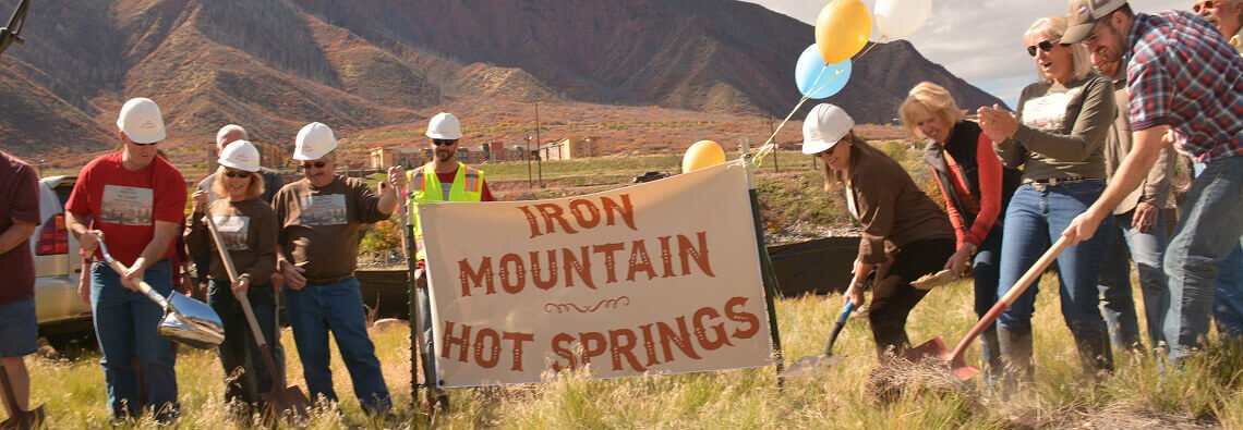Iron Mountain Hot Springs ground breaking