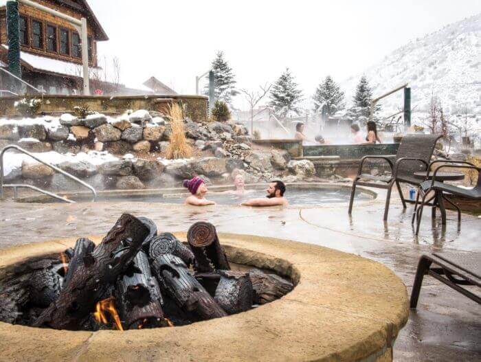 Soaking at Iron Mountain Hot Springs