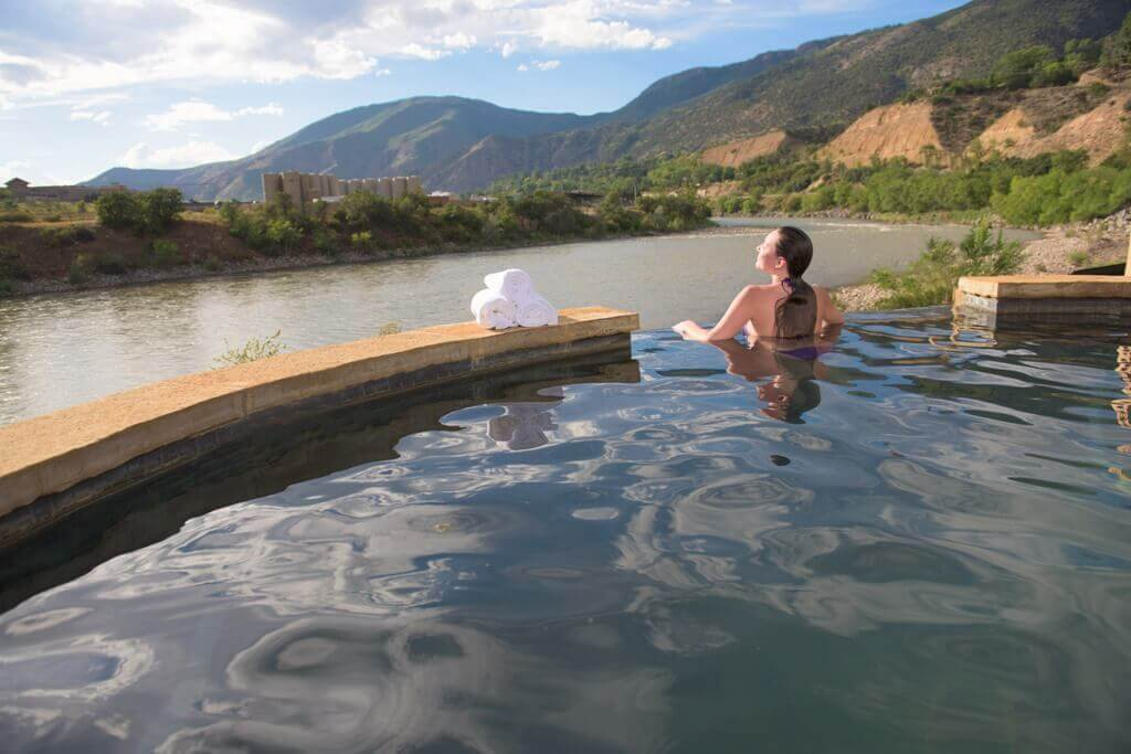 Enjoy a relaxing soak and spectacular view at Iron Mountain Hot Springs